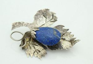 Arts_Crafts_Lapis_Sterling_Brooch