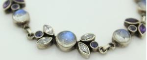 Moonstone Bracelet Sterling Silver