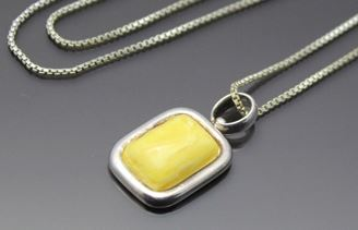 Butterscotch Amber Pendant Look At It