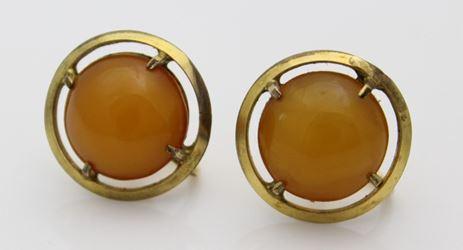 Egg Yolk Amber Earrings Look At It