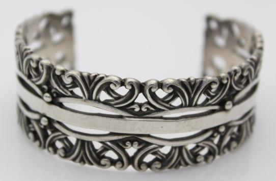 Sterling Silver Taxco Cuff Bracelet